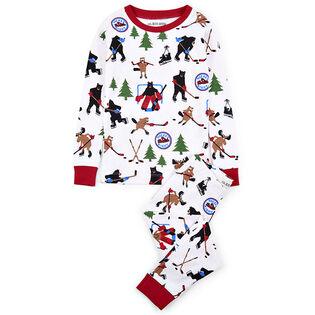 Pyjama 2 pces à motif soirée du hockey pour garçons [2-10]