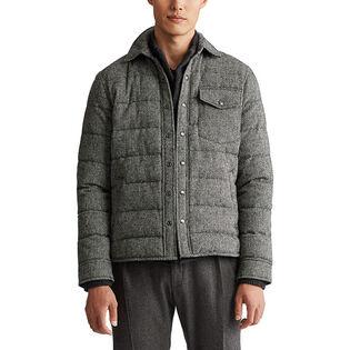 Men's Herringbone Down Shirt Jacket