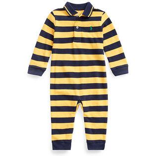 Baby Boys' [3-12M] Cotton Mesh Polo Coverall