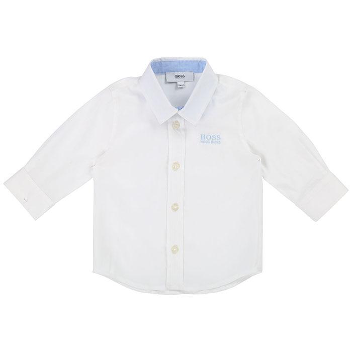 Boys' [12M-3Y] Basic Cotton Shirt