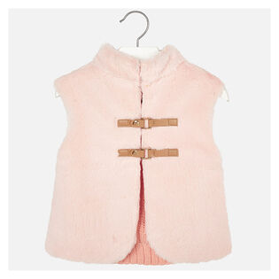 Girls' [3-6] Knit Faux Fur Vest