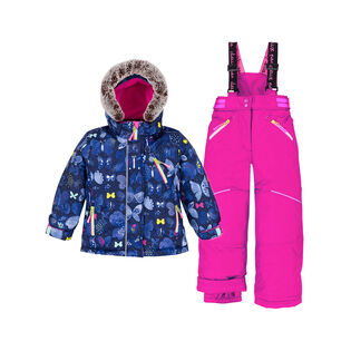 Girls' [2-6] Frosted Butterfly Two-Piece Snowsuit
