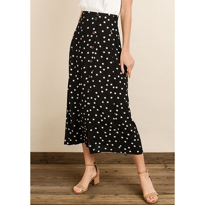 Women's Polka Dot High Waist Skirt