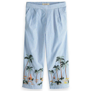 Pantalon à broderie de palmiers pour filles juniors [8-16]
