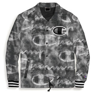 Men's Printed Satin Coaches Jacket