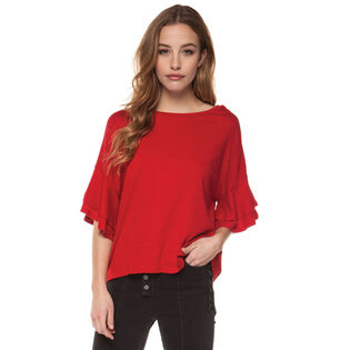 Women's Ruffle Sleeve Top