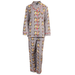Women's Floral Deer Two-Piece Pajama Set