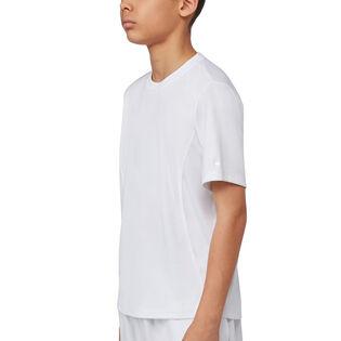 T-shirt de tennis Fundamental Crew pour garçons juniors [8-16]