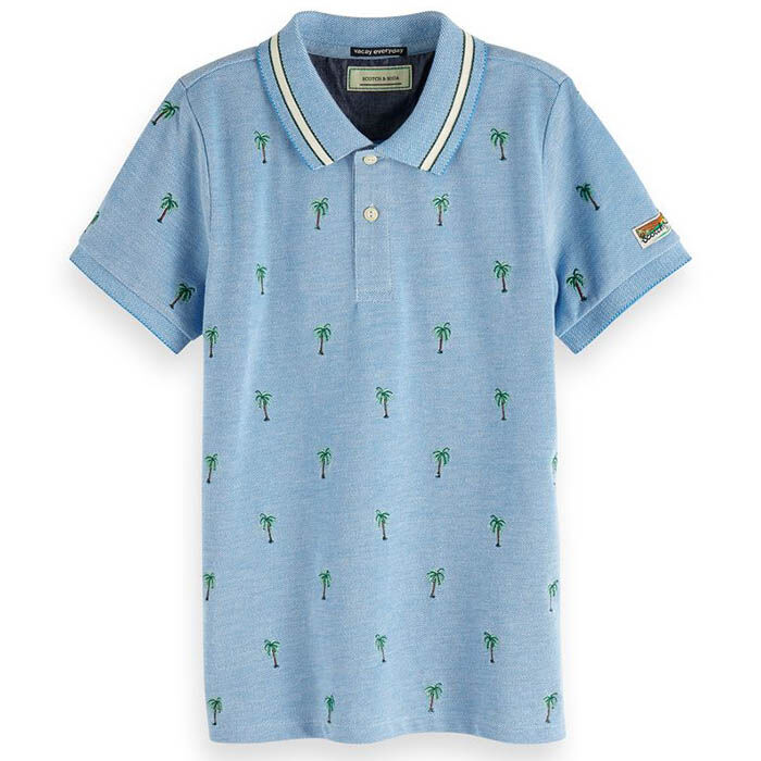 Junior Boys' [8-16] Palm Embroidery Polo