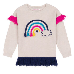 Girls' [3-6] Fringe Knit Sweater