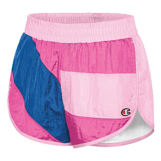 Women's Colourblock Crinkle Short