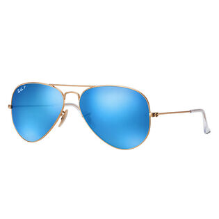 Aviator Flash Lens Sunglasses