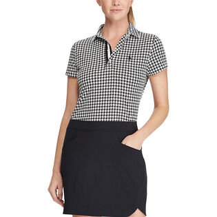 Women's Tailored Fit Print Golf Polo