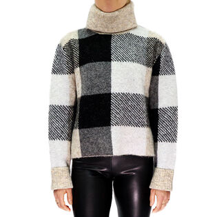 Women's Checked Turtleneck Sweater