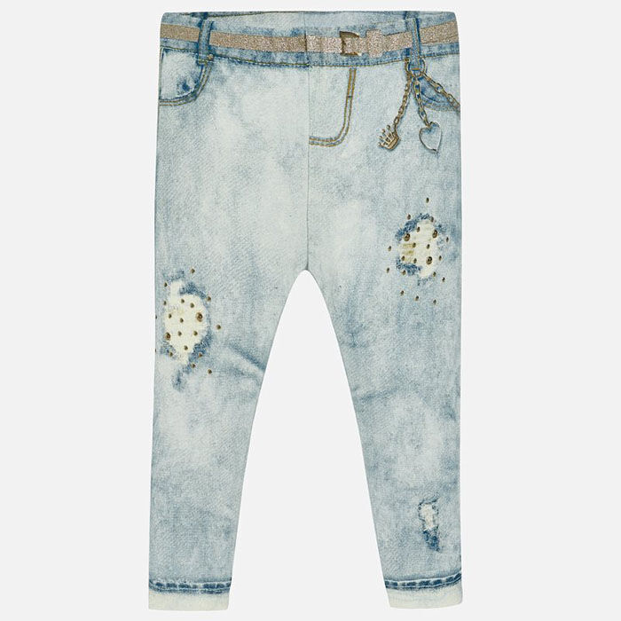 Baby Girls' [6-36M] Ripped Design Jegging