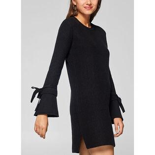 Women's Knit Bow Sleeve Dress