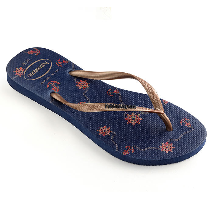 Women's Slim Nautical Flip Flop Sandal