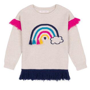 Girls' [3-6] Fringe Knit Sweater
