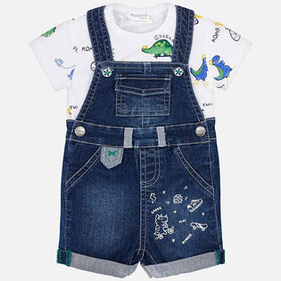 Baby Boys' [3-18M] Denim Overall Two-Piece Set