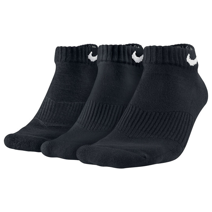 Women's Cotton Cushion Low-Cut Socks [3 Pack] (Black)
