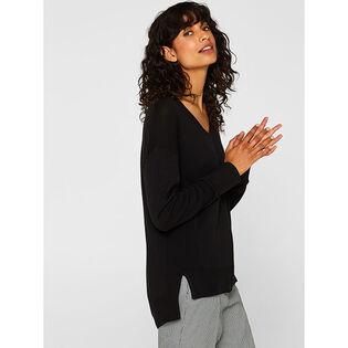 Women's Organic Cotton V-Neck Sweater