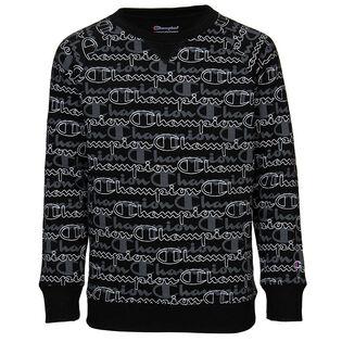 Junior Girls' [7-16] Layered Script Fleece Crew Sweatshirt