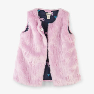 Girls' [2-6] Faux Fur Vest