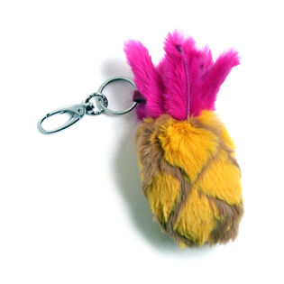 Pineapple Fur Keychain