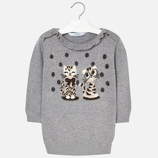 Girls' [2-6] Grey Knitted Dress