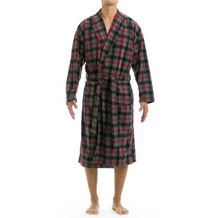 Men's Microfleece Plaid Robe