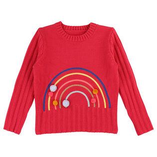 Girls' [3-6] Rainbow Knit Sweater