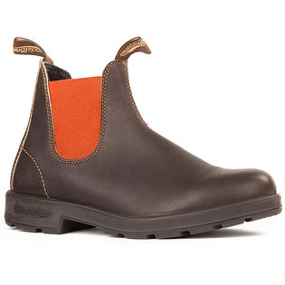 #1918 Original Stout Boot In Brown With Terracotta Elastic