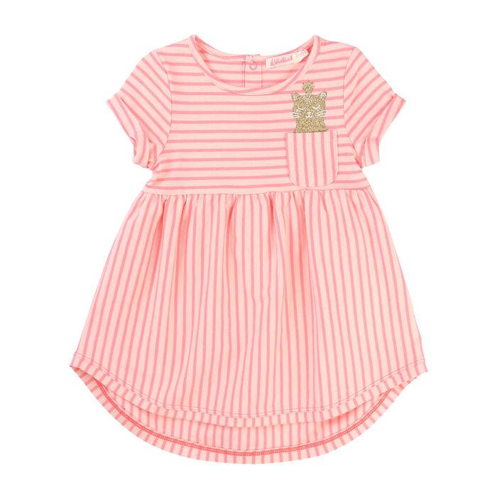 Babies' [3Mo-2] Cat Pocket Dress