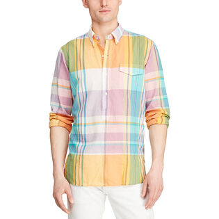 Men's Custom Fit Madras Popover Shirt