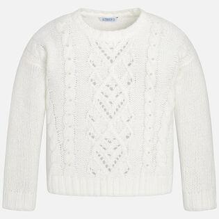 Junior Girls' [8-14] Pearl Sweater