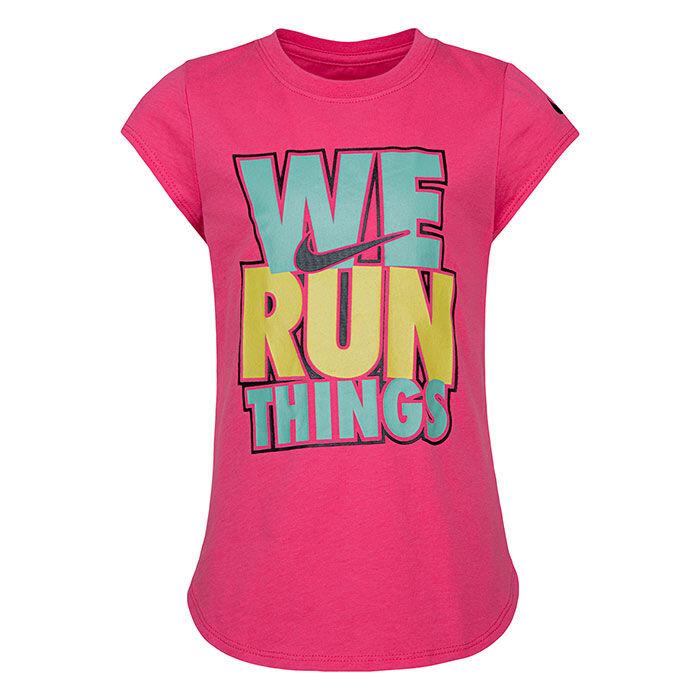 T-shirt We Run Things pour filles [2-4T]