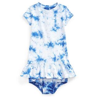 Ensemble robe et culotte bouffante à motif tie-dye pour bébés filles [3-24M]