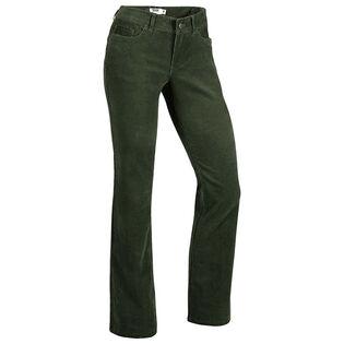 Pantalon en velours côtelé ajusté Canyon pour femmes