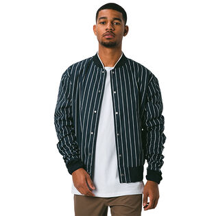 Men's Stripe Varsity Jacket