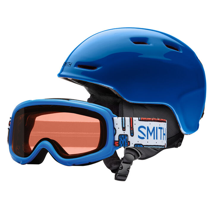 Juniors' Zoom Helmet + Gambler Snow Goggle Combo [2019]