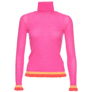 Women's Ruffle Trim Sweater