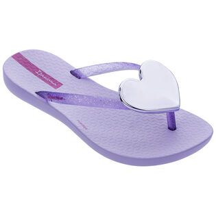 Juniors' [10-4] Maxi Heart Flip Flop Sandal