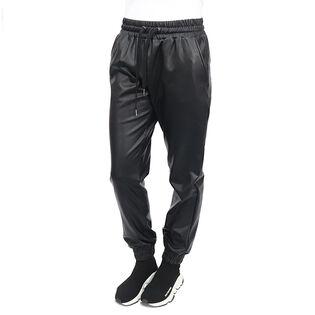 Pantalon de jogging en similicuir pour femmes