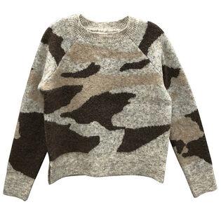 Women's Woven Camo Sweater