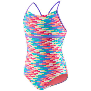 Junior Girls' [7-16] Hidden Tropical Strappy One-Piece Swimsuit