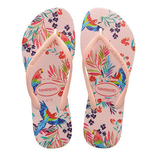 Juniors' [11-4] Slim Tropical Floral Flip Flop Sandal