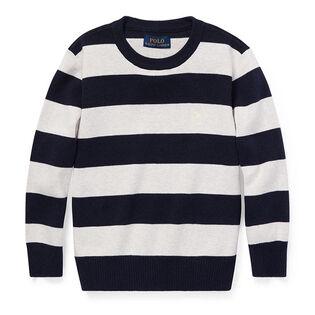 Boys' [5-7] Striped Cotton Sweater