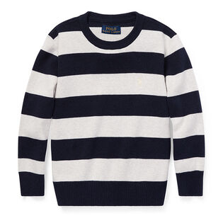 Boys' [2-4] Striped Cotton Sweater