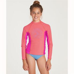 Junior Girls' [8-14] Surf Dayz Long Sleeve Rashguard