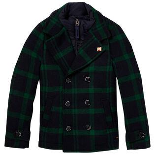 Manteau à carreaux pour garçons juniors [8-14]
